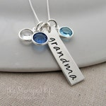 Personalized Charm Necklace, Gift for Mom, Personalized Name Necklace, Birthstone Necklace, Gift Idea, Grandma, Nana, Mom, Mother Necklace