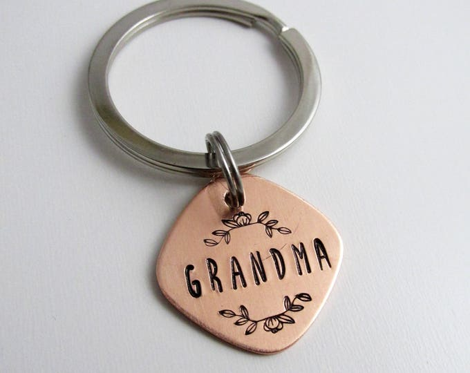 Grandmother, Mom, Nana Key Ring, Key Chain, Gift for Her, Gift Idea