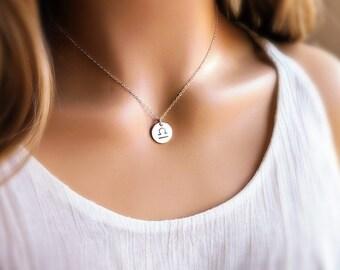 Zodiac Necklace - Zodiac Jewelry- Sterling Silver Necklace - Astrological Sign - Gift Idea - Dainty Jewelry - Charm Necklace