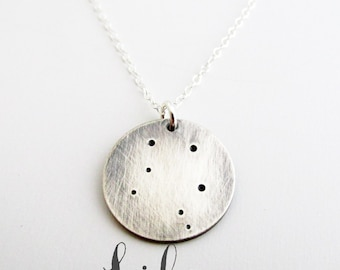 Libra Constellation Necklace - Lunar Jewelry- Sterling Silver Necklace