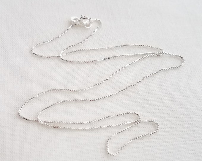 Sterling Silver Box Chain, Jewelry Supplies, Replacement Chain