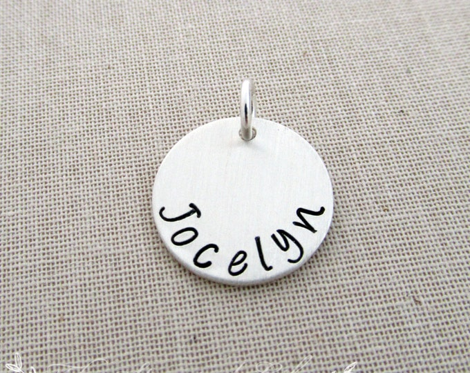 "Add A Charm, 5/8"", Any Name, Sterling Silver"