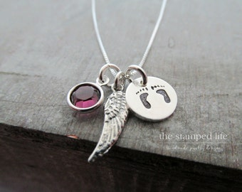 Miscarriage Necklace | Memorial Necklace | Miscarriage Jewelry | Miscarriage Gift | Infant Loss Necklace | Sterling Silver Wing Necklace