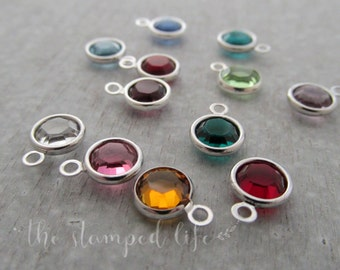 Add A Birthstone, Swarovski Channel Set Crystal Or Wire Wrapped Pearl, Add On To Any Of My Listings