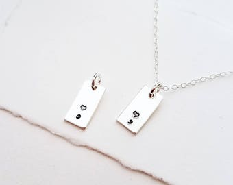 Charm Necklace, Tiny Charm, Sterling Silver