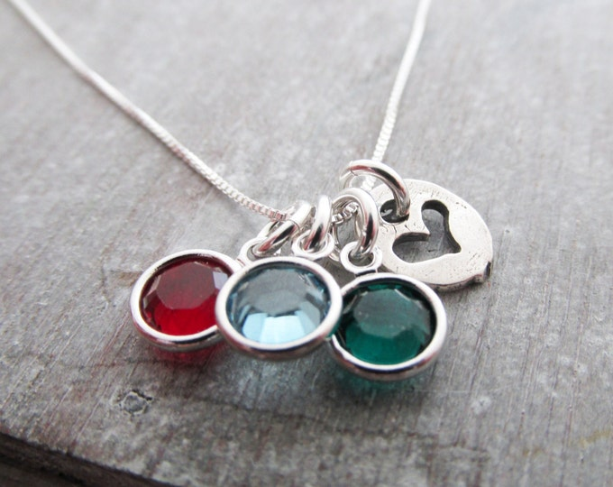 Birthstone Charm Necklace, Necklace for Moms, Grandmother necklace, personalized necklace, personalized jewelry, Birthstones