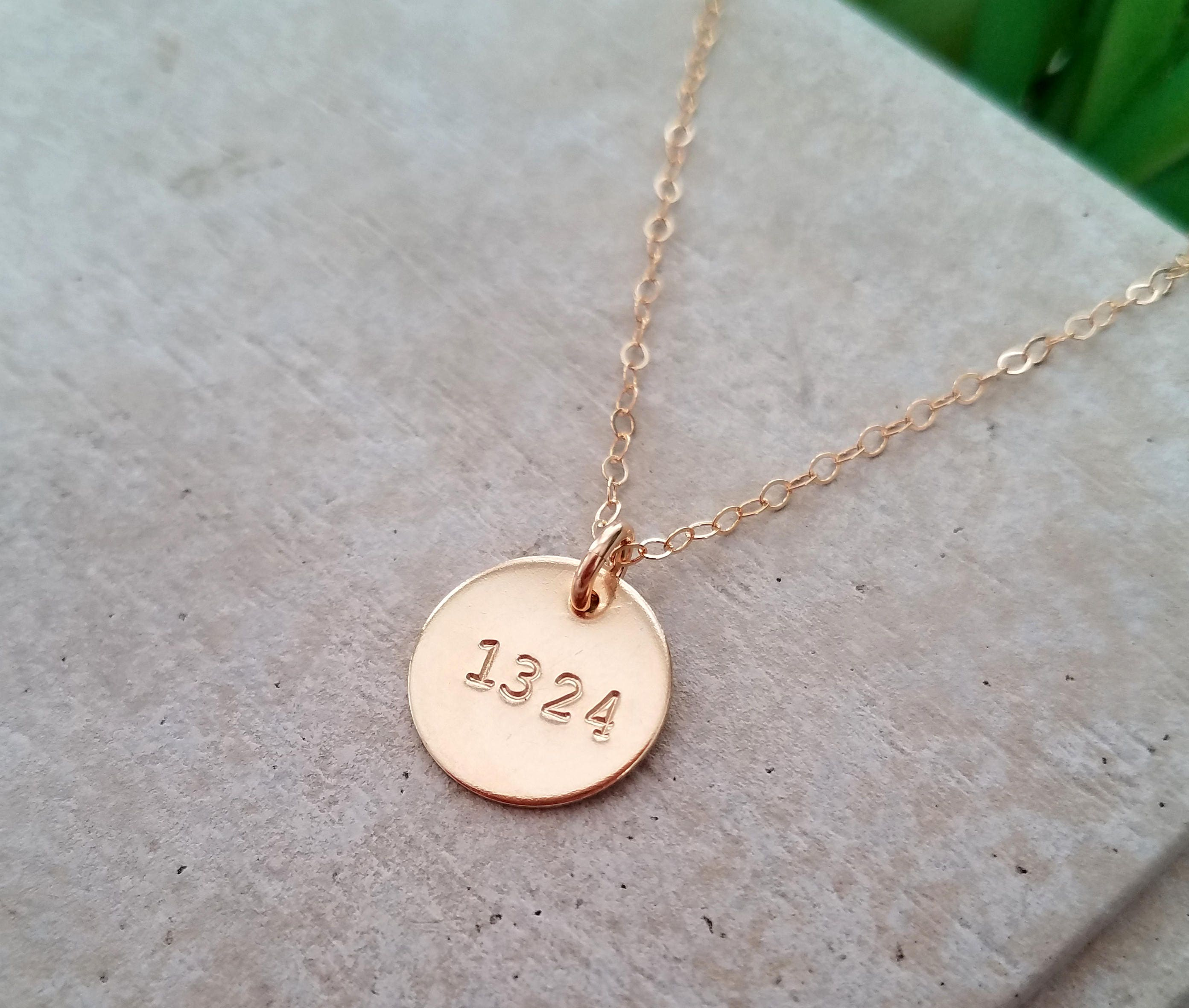 personalized necklace number necklace badge number special number