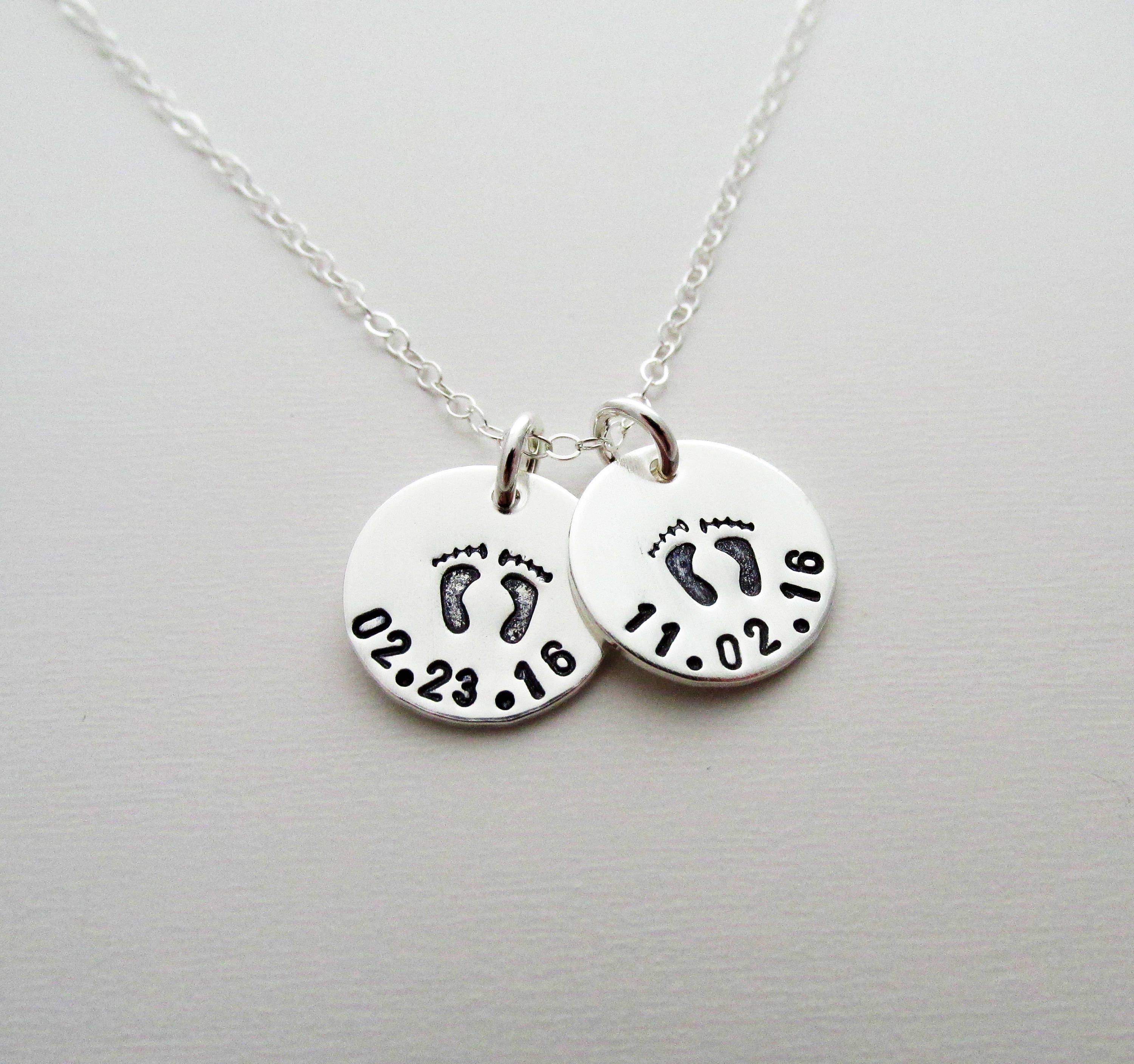 Baby Birth Date Necklace Custom Personalized Necklace