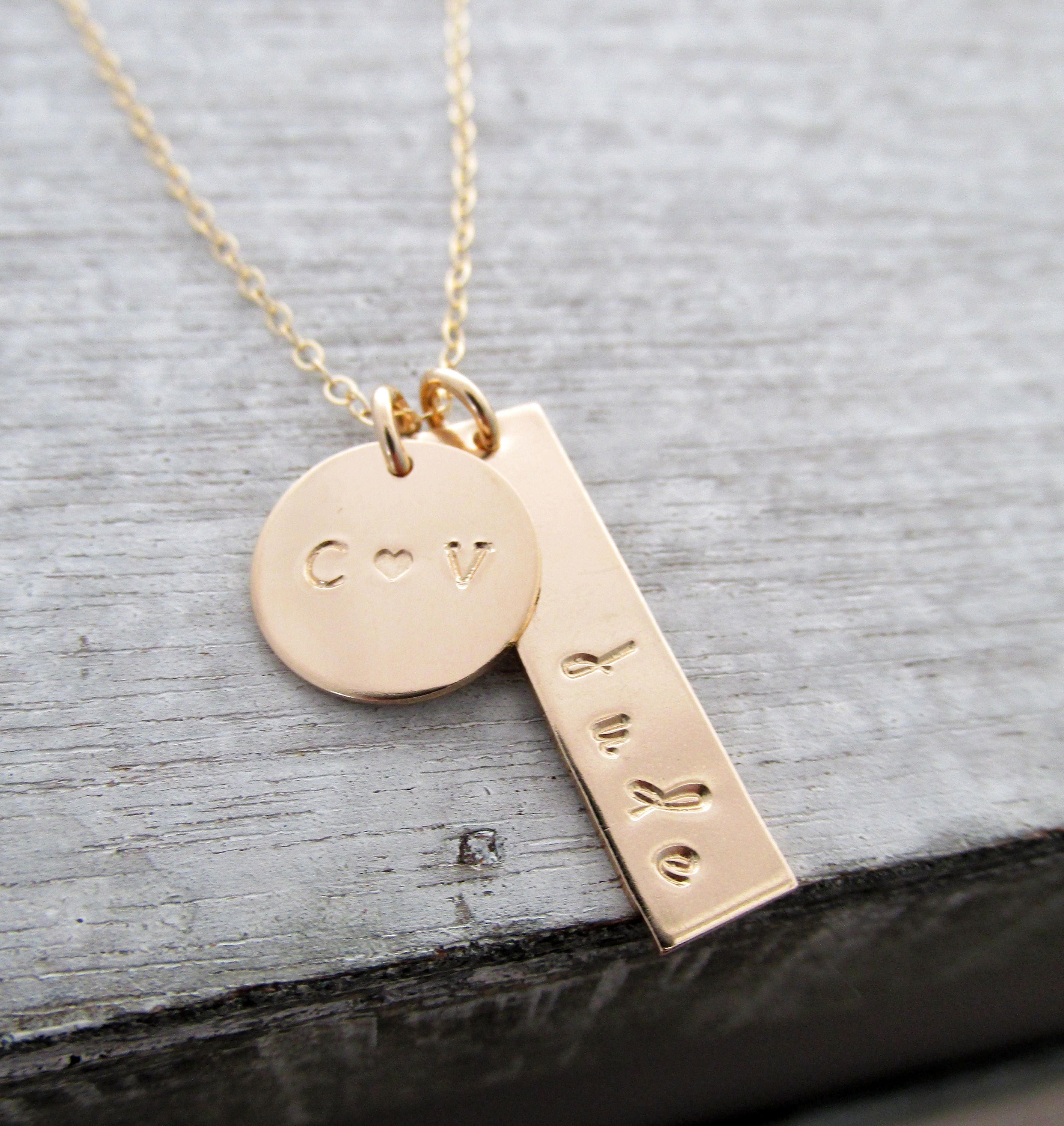 personalized gold charm necklace custom charm necklace mom