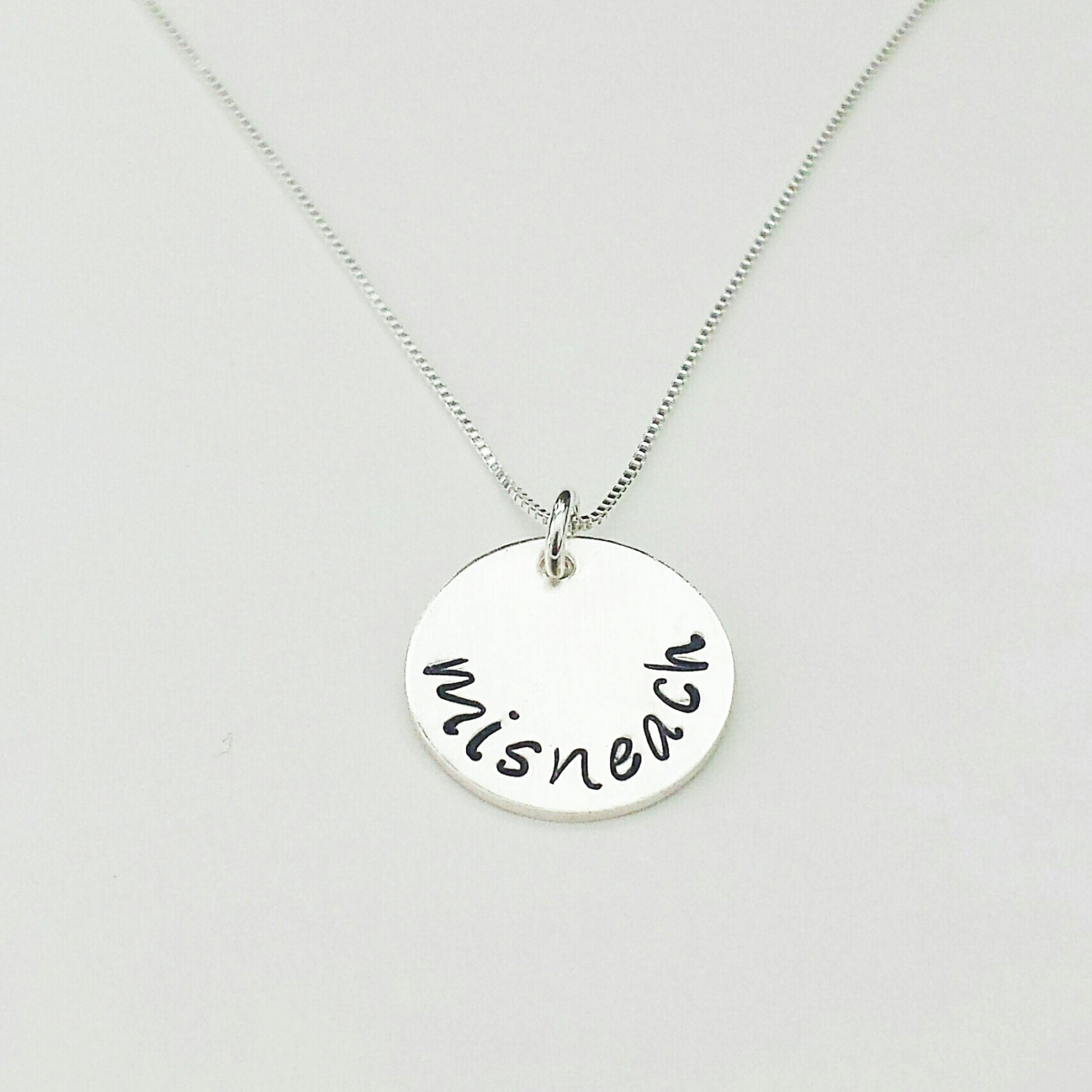 Misneach Irish Courage Necklace Sterling Silver Necklace Hand