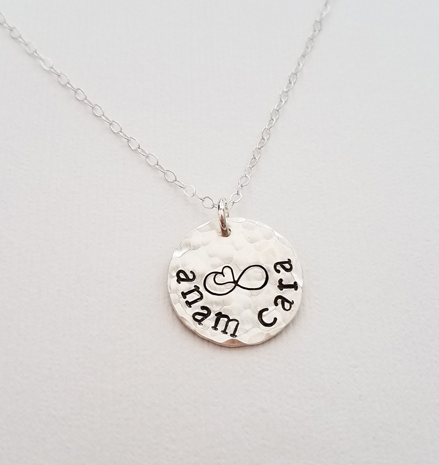 Anam Cara Friendship Necklace Sterling Silver Necklace Gift For