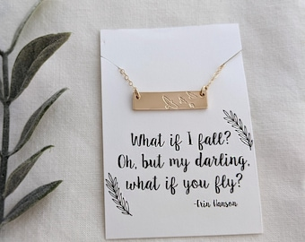 GRADUATION GIFT-  What if You Fly Necklace, Motivational Gift, Gift for Her, Inspirational Necklace, Gift Idea