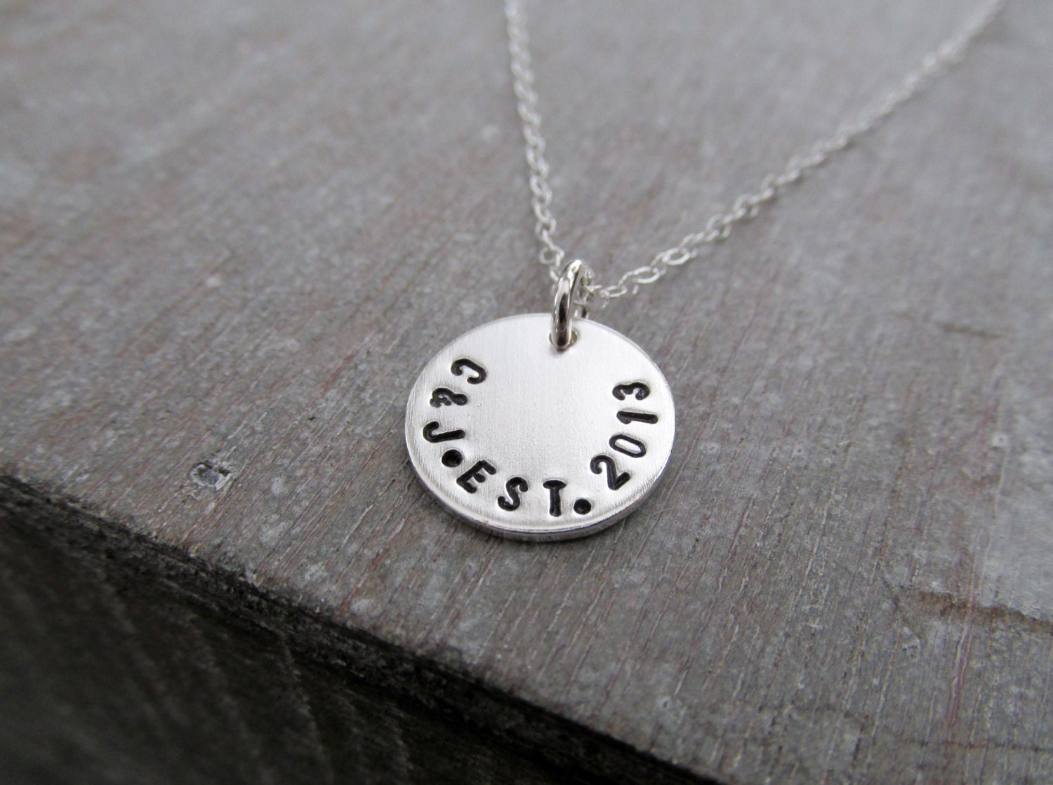 b1bea0f569255 Initial Necklace, Wedding Date, Bridal Shower Gift, Wedding Gift ...