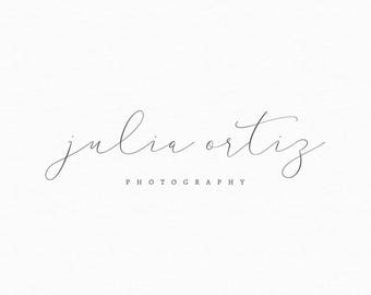 Premade Calligraphy Style Logo - Photography Logo and Watermark Design - Business Watermark Logo - Delicate Calligraphy Logo - 244