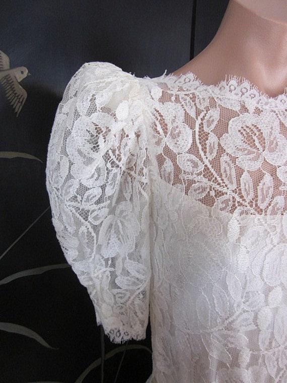 Lace Wedding Dress / Ivory lace Wedding Dress / V… - image 4