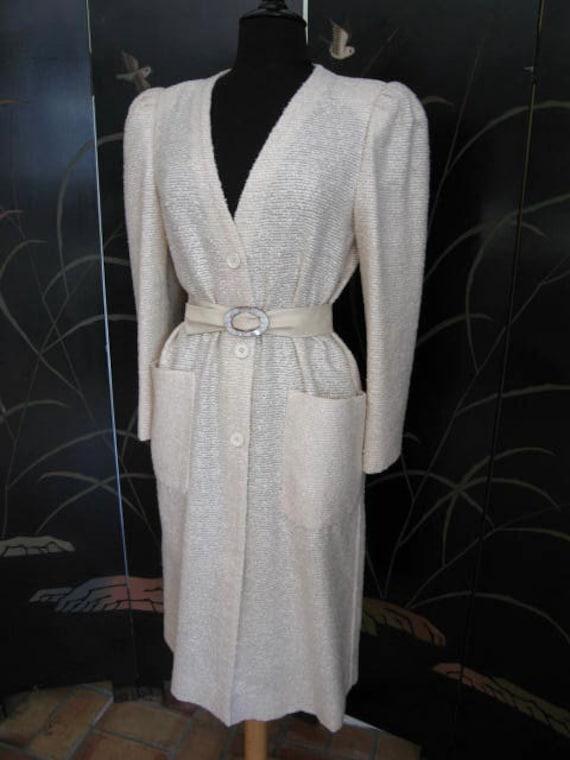 Agnona Coat / Vintage Italian Coat / Silk Knit Co… - image 4