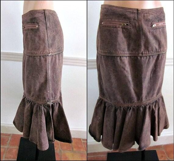 ALBERTA Skirt Trumpet Jeans Off S Jacket Skirt Vintage fits Zip M Mini Peplum FERRETTI Suit r7A6r