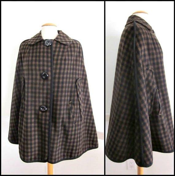 Penguin Fashions Cape / Mod Cape / Vintage 60s Cap
