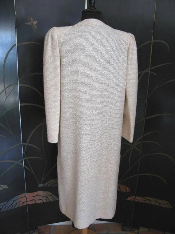Agnona Coat / Vintage Italian Coat / Silk Knit Co… - image 8