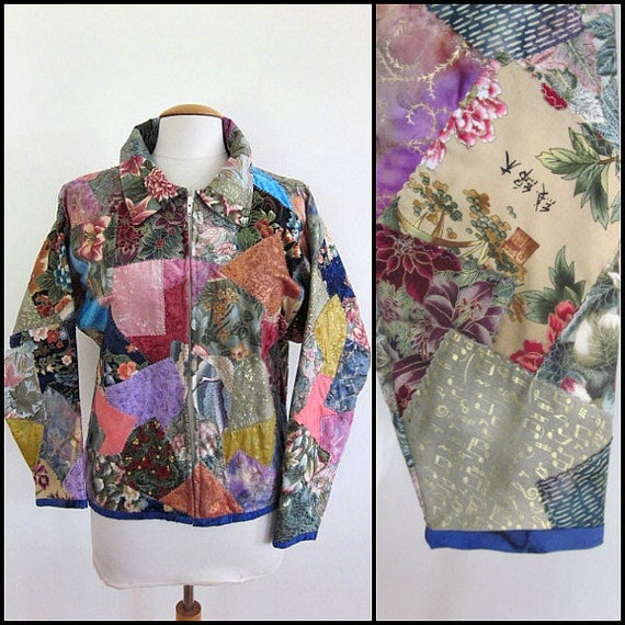 Patchwork jacket / vintage patchwork jacket / quil