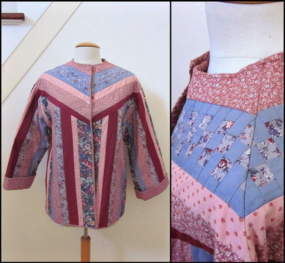 Quilted Jacket / Vintage Quilted Jacket / Artisan… - image 1