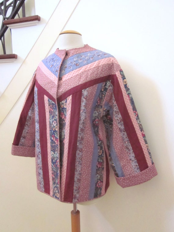 Quilted Jacket / Vintage Quilted Jacket / Artisan… - image 2