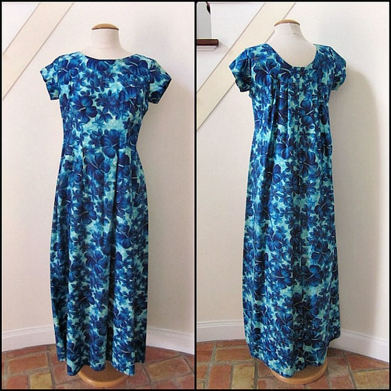 Kaikamahine Hawaiian Dress / 60s Hawaiian dress /
