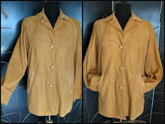 Greenbrier Suede Jacket / 50s Suede jacket / butte