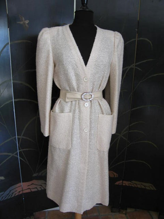 Agnona Coat / Vintage Italian Coat / Silk Knit Co… - image 2