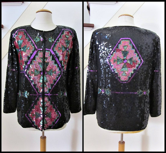 Sequin Trophy Jacket / fits S / Ellen Boyd Sequin