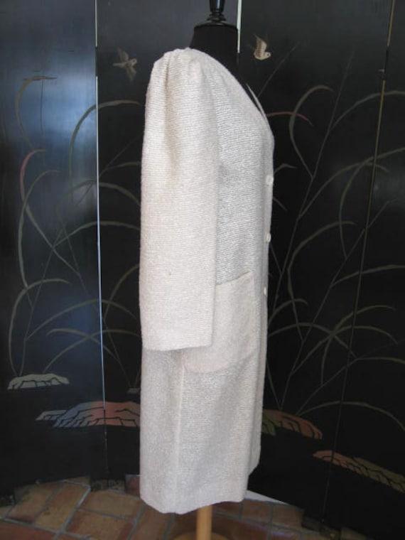 Agnona Coat / Vintage Italian Coat / Silk Knit Co… - image 7