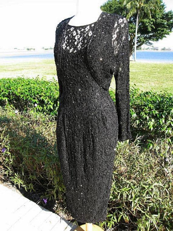 Lace Carmen Carmen Valvo Valvo Gown lace black and fits Black Marc gown Dress Valvo Gown Vintage Carmen Bolero S beaded Marc Marc wwqZFr5z