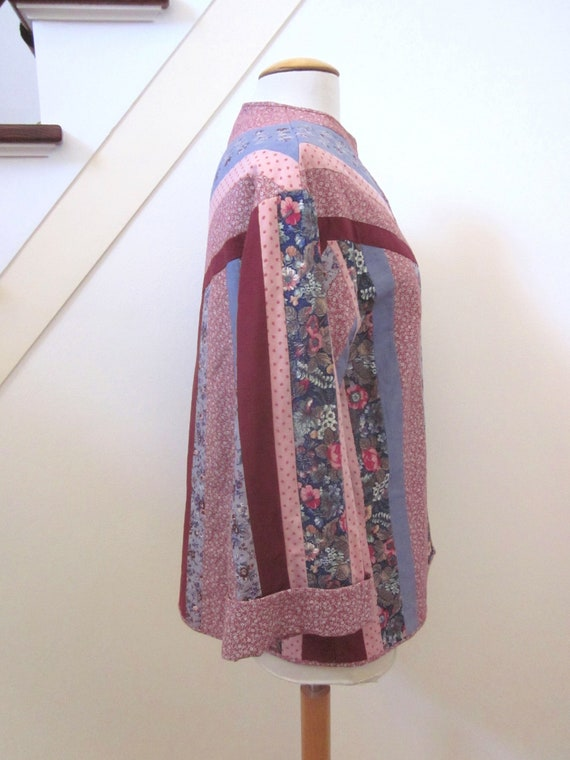 Quilted Jacket / Vintage Quilted Jacket / Artisan… - image 6