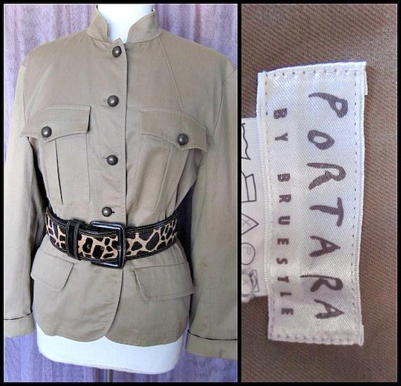 Portara Safari Jacket / fits M / Vintage Safari Ja