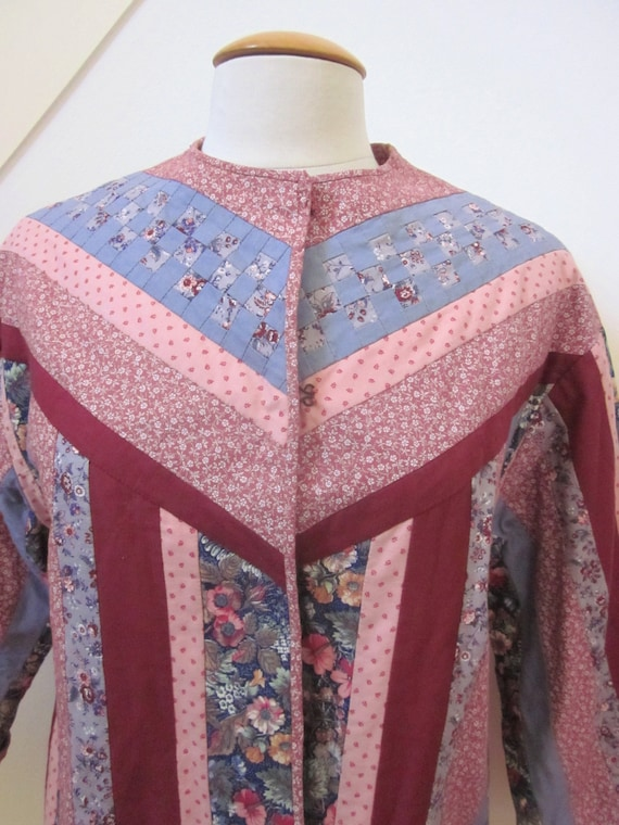 Quilted Jacket / Vintage Quilted Jacket / Artisan… - image 7