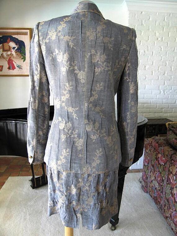 Ungaro Vintage Ungaro gold made UNGARO EMANUEL Ungaro in Ungaro suit suit Vintage Italy suit sits suit skirt S dinner PARALLELE EtqwBf