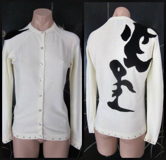 50s Cashmere Cardigan / 50s Cashmere Sweater / App