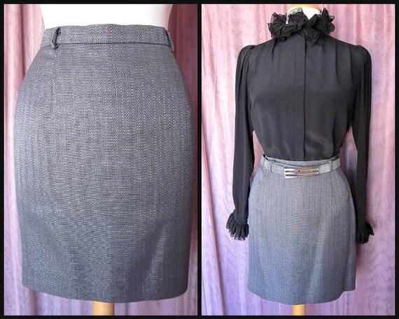 MONDI silver skirt / 80s Mondi silver skirt / Mond