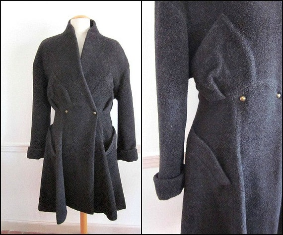 THIERRY MUGLER Alpaca Coat / vintage 80s Thierry M