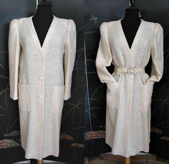 Agnona Coat / Vintage Italian Coat / Silk Knit Co… - image 1