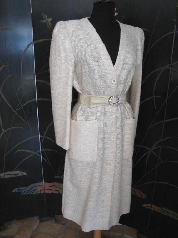 Agnona Coat / Vintage Italian Coat / Silk Knit Co… - image 5