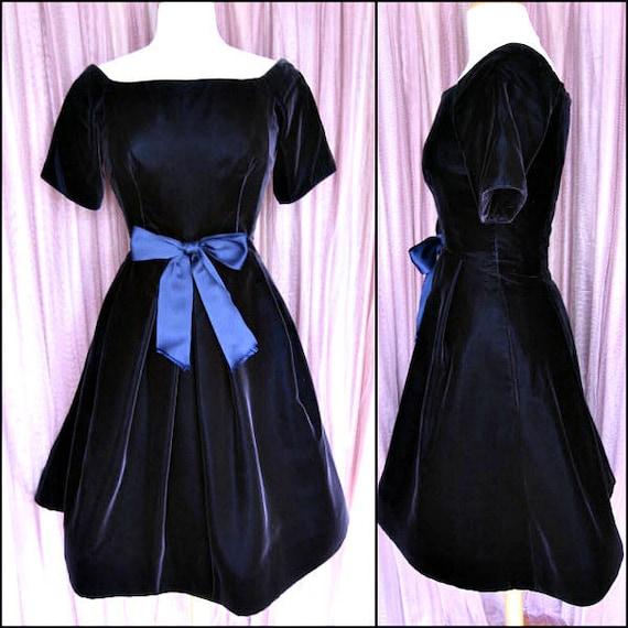 Scaasi Dress / vintage Scaasi dress / Scaasi velve