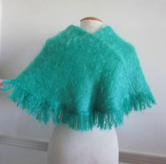 Highland Home Industries / handwoven Mohair Cape /