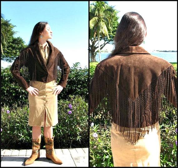 Fringed Suede Jacket / Cripple Creek Suede Jacket