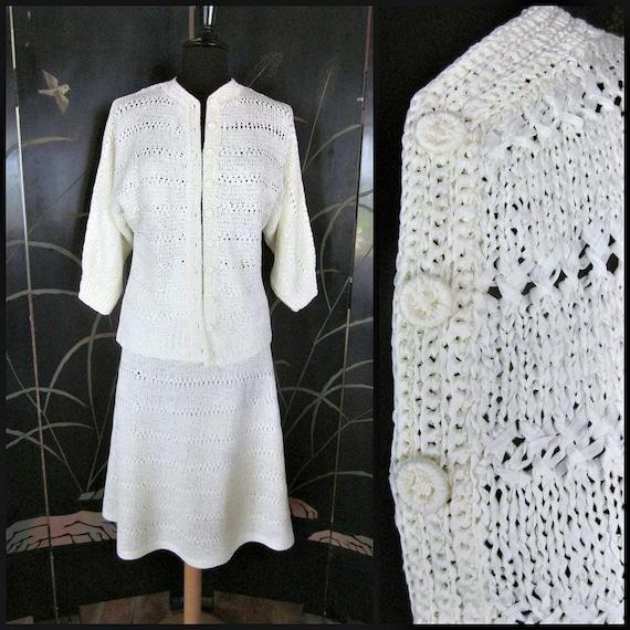 Anastasia Palm Beach / fits S-M / 70s White Bridal