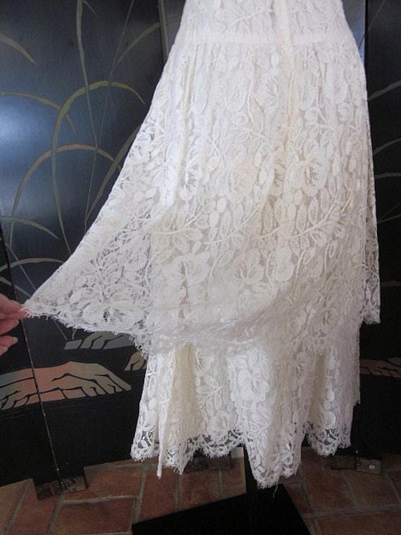 Lace Wedding Dress / Ivory lace Wedding Dress / V… - image 7