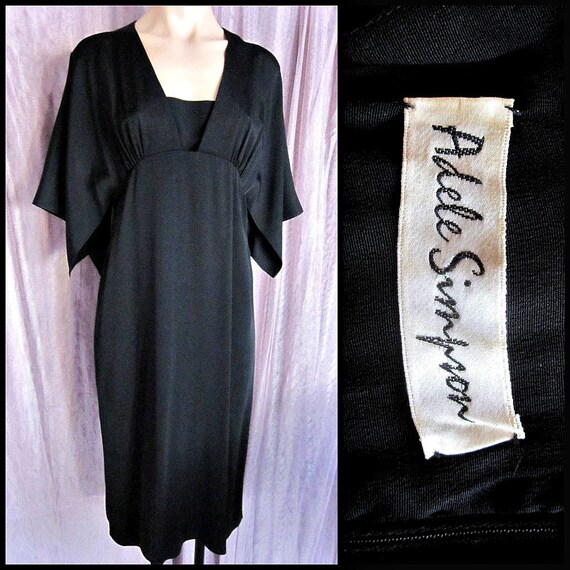 Adele Simpson Dress / fits XS-S / 70s Adele Simpso