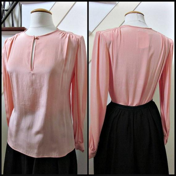 Valentino Pink Blouse / fits M / Vintage Valentino