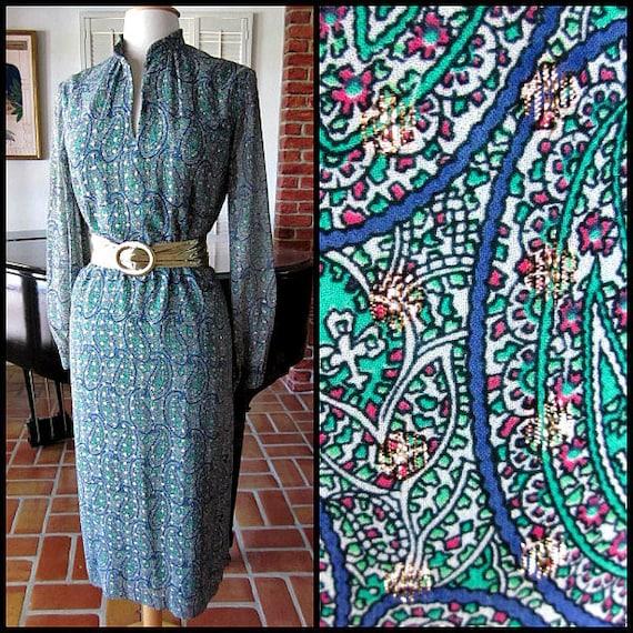 Nat Kaplan Couture Dress / Vintage 60s Lame' Dress