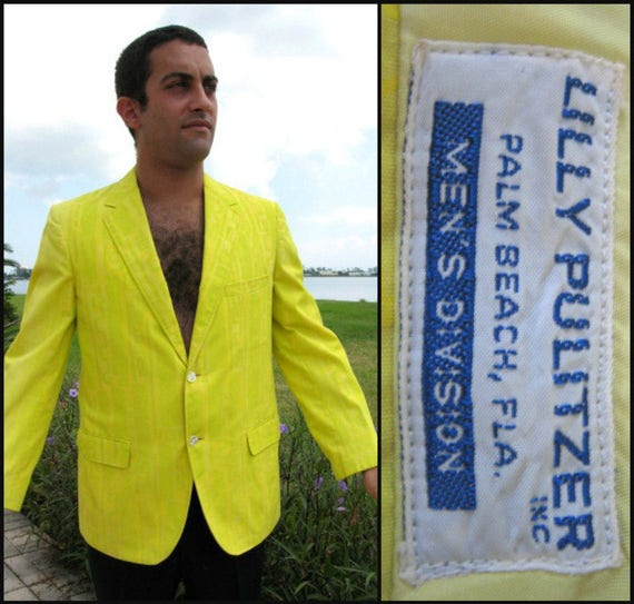 Vintage Lilly Pulitzer Mens Jacket / 60s Lilly Pul